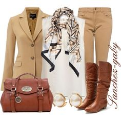 """Light Brown Blazer"" by sanchez-gaby on Polyvore"