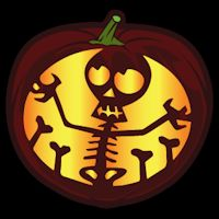 Cute Skeleton CO - Stoneykins Pumpkin Carving Patterns and Stencils