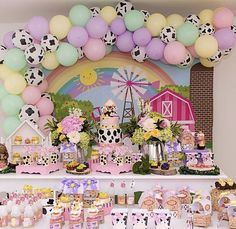 2nd Birthday Party For Girl, Farm Animal Birthday, Farm Birthday, Birthday Ideas, Farm Party, Party Ideas, Baby Shower, Rodeo Party, Baby Party