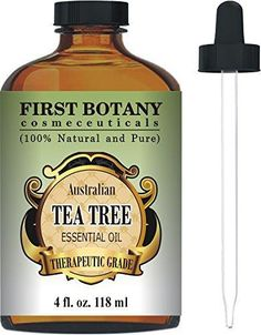 Tea Tree Oil (Australian) 4 Fl.oz. with Glass Dropper 100 % Pure and Natural Therapeutic Essential Oil to Help in Fighting Dandruff Acne Toenail Fungus Yeast Infections Cold Sores & More...