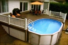 pool with deck - Google Search If we ever move to the Maryland St house.