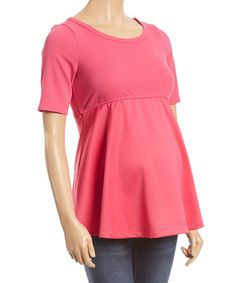 Loving this Fuchsia Maternity Scoop Neck Top on #zulily! #zulilyfinds