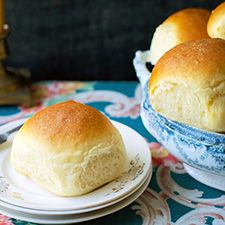 "Potato Rolls from King Arthur ""Amish Dinner Rolls Recipe"".  Needed way more flour than recipe called for-guessing because used 5 extra versus large eggs..also add about 1 cup instant mashed potatoes...Everybody loved them but heavy!"