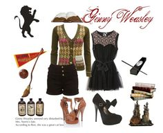 Ginny Weasley by sally-anne on Polyvore featuring polyvore, fashion, style, Nolita, Forever 21, Nimbus, clothing and ginny weasley