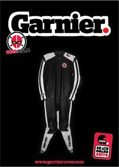 FASTER NINJA Longboard Leather Suit info@garniercrew.com https://www.facebook.com/GarnierCrew www.garniercrew.com