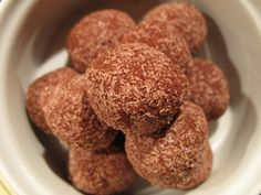 Swap the coconut flour for more of the nuts, remove cinnamom, and try coating in cacao & rapadura.