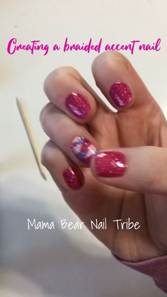 Creating a Braided Color Street accent nail! - Applying Color Street - Glamsterdam, How Rome-antic, Himalayan Salt. Layering 3 sets to make a braided manicure! Light Pink Nails, Coral Nails, Yellow Nails, Red Nails, Nail Color Combos, Nail Colors, White Acrylic Nails, Nail Black, Black Manicure