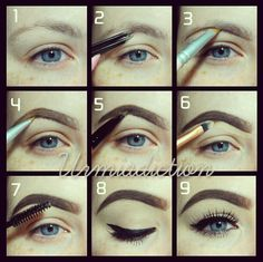 how to fill in your eyebrows | How to: Fill in brows Sparse Eyebrows, How To Do Eyebrows, Tweezing Eyebrows, Threading Eyebrows, Perfect Eyebrows, Face Threading, Bold Eyebrows, Perfect Eyes, Makeup Goals