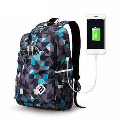 b7579f2ab92bc Fashion Student College Backpack With USB Charging · Seyahat Sırt  ÇantasıErkek ...