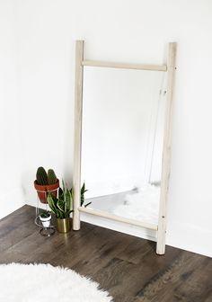 DIY Dowel Mirror @themerrythought