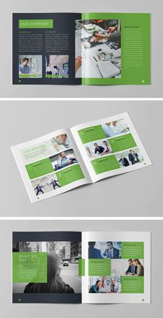 Corporate Business Square Brochure Template InDesign INDD - 16 Pages - Download Yearbook Pages, Yearbook Layouts, Yearbook Spreads, Corporate Business, Corporate Design, Corporate Brochure, Magazine Layout Design, Book Design Layout, Design Design