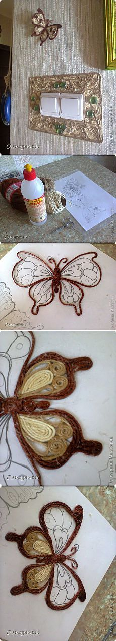 23 Clever DIY Christmas Decoration Ideas By Crafty Panda Twine Crafts, Yarn Crafts, Paper Crafts, Hobbies And Crafts, Diy And Crafts, Arts And Crafts, Rope Art, Ideias Diy, Butterfly Crafts