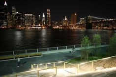 View of Lower Manhattan from Brooklyn Bridge Park.