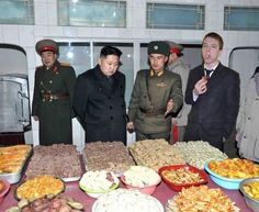 So my buddy went to a feast with Kim Jong-un