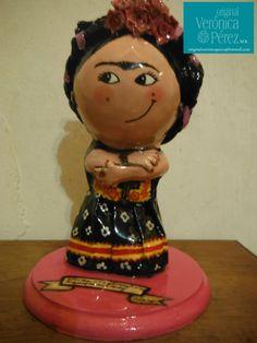 Frida with flower dress art doll in paper by OriginalVeroPerez, $145.00