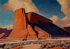 Magic Mesa 30x40 inches, oil by Maynard Dixon (1875-1946)