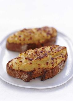 Welsh Rarebit or Welsh rabbit is a dish made with a savoury sauce of melted cheese and various other ingredients and served hot over toast. Bbc Good Food Recipes, Chef Recipes, Cooking Recipes, Yummy Food, Cooking Tips, Recipies, Snack Recipes, Snacks, Recipe For Welsh Rarebit