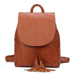 Nuevo estilo mochila de cuero para mujeres tienda online de bolsos de cuero auténtico