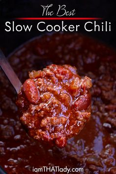 This Crockpot Chili is so easy and SOO good! It is always a hit at every gathering. Try this one at your next chili cookoff. or for dinner tonight! This Crockpot Chili is so easy and SOO good! This is great for a freezer meal too! Crock Pot Recipes, Chilli Recipes, Slow Cooker Recipes, Cooking Recipes, Crockpot Meals, Crockpot Dishes, Beef Recipes, Beef Dishes, Meatball Recipes