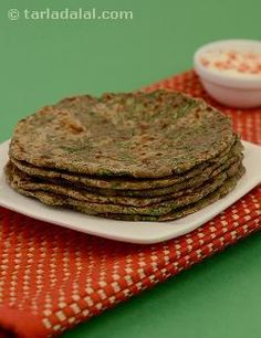 Low-sodium radish leaves combine with three nutri-rich flours to make a healthy treat for the heart. Boiled potato softens the Rotis and adds its own special flavour.