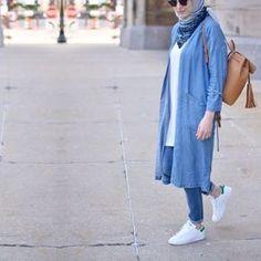 Fashion stylish tunics for woman – Just Trendy Girls Hijab Fashion Summer, Modern Hijab Fashion, Street Hijab Fashion, Hijab Fashion Inspiration, Abaya Fashion, Muslim Fashion, Fashion Outfits, Casual Hijab Outfit, Hijab Chic