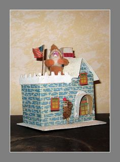 early made in Japan putz house a.k.a. cardboard christmas house/candy container by mcudeque, via Flickr