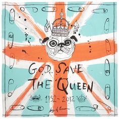 God Save the Queen scarf by Age of Reason #AgeOfReason #scarf