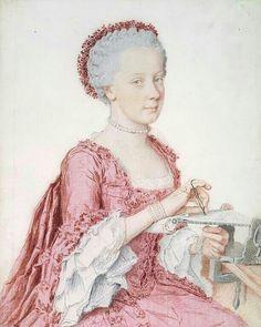 Portrait de Marie-Amélie, 1762 Jean Etienne Liotard