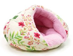 Floral Pet Snuggle Beds Pink Floral
