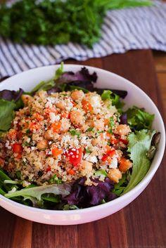 Quinoa Chickpea Salad Recipe on Yummly. @yummly #recipe