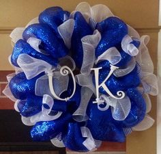 Gonna have to make this one for our new home at UK. University of Kentucky Wildcats Deco Mesh Wreath