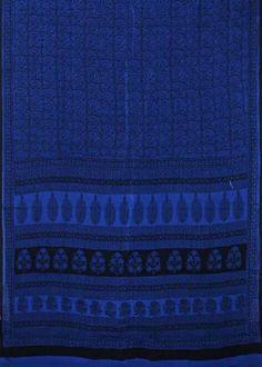 Bagh Print Saree BAG3SAR301 BAGH HANDBLOCK PRINT ON PURE COTTON IN INDIGO COLOUR Type BAGH HANDBLOCK PRINT Material COTTON Length 5.5 Mtrs Blouse 1 Mtr Color INDIGO BLUE Washing Instructions CAN BE HANDWASHED