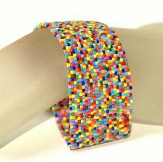Best Bracelet Perles 2017/ 2018 : Color Burst ... Peyote Bracelet...