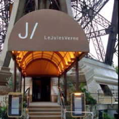 Jules Verne restaurant. Lunch at the Eiffel Tower on June 5, 2014. Great food, better views.