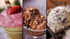 Home made icecream Frozen Desserts, Frozen Treats, Creative Food, Sorbet, Parfait, Deserts, Muffin, Ice Cream, Sweets