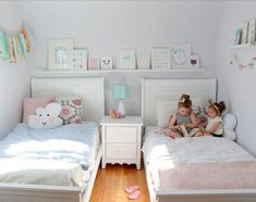 Finding furniture for children that both appeals to the young and is sophisticated enough for teens can be a challenge, but our Sweetdreams Twin bed walks that fine line deftly. Colour Or Finish:White. Twin Girl Bedrooms, Sister Bedroom, Girls Twin Bed, Girls Bedroom, Toddler Twin Bed, Twin Bedroom Ideas, 2 Twin Beds, Sisters Shared Bedrooms, Bedroom For Twins