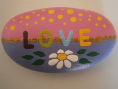 Painted rock 'Love'