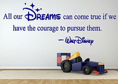 Amazon.com: Wall Room Decor Art Vinyl Decal Sticker Mural Motivational Dreams Quote Famous Cartoon Person Kids Bedroom Boy Girl Nursery Poster AS554: Baby