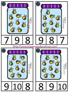 Kindergarten Prep, Preschool Math, Teaching Math, Visual Motor Activities, Bug Activities, Math Bingo, Math Worksheets, Cardinal E Ordinal, School Frame