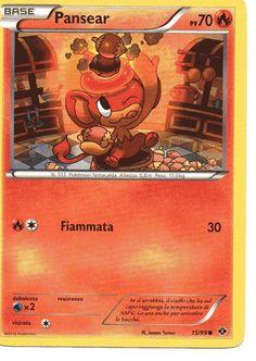Carta Pokemon Pansear Nero e Bianco Destini Futuri 15/99 comune nuova italiana