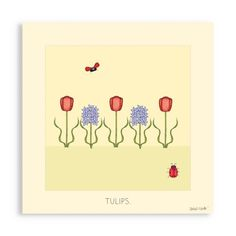 Find it at the Foundary - 10 x 10 in. Tulips Wall Art