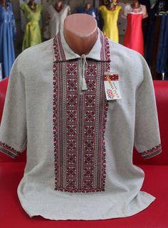 Ukrainian Men's HANDMADE Embroidered Shirt Vyshyvanka embroidery #Unbranded #vyshyvanka