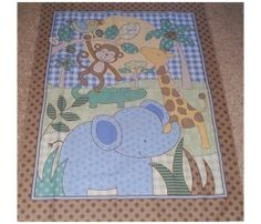 Pink & Brown Jungle Baby Quilt Panel | Baby Girl Room | Pinterest ... : jungle theme baby quilt patterns - Adamdwight.com