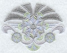 Art Deco Snowflakes 2 design (F7837) from www.Emblibrary.com