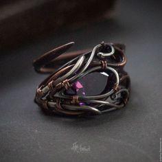 Кольца ручной работы. Ярмарка Мастеров - ручная работа. Купить Безразмерное кольцо из меди и серебра. Wire wrap. Handmade.