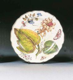 A Chelsea 'Hans Sloane' botanical dish