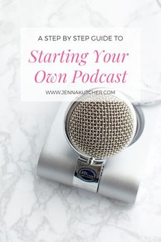 Podcasting A step by step guide to starting your own podcast with Jenna Kutcher of the chart topping Goal Digger Podcast. From the equipment to the tech Business Advice, Online Business, Craft Business, Business Quotes, Creative Business, Podcast Topics, Podcast Ideas, Starting A Podcast, Goal Digger