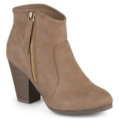 Journee Collection Women's 'Link' High Heel Faux Ankle Booties