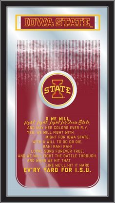Fight Song Logo Mirror - Iowa State University Cyclones
