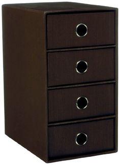 Rössler 1524452874  Drawer Storage Box with 4 Drawers One Colour Espresso Rössler £33.85 http://www.amazon.co.uk/dp/B004OWMJEU/ref=cm_sw_r_pi_dp_UG8jvb1W8AB0M